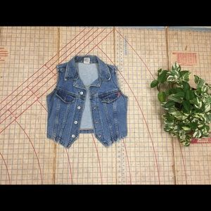 Vintage cropped denim vest XS/S